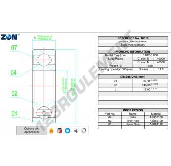 16019-ZEN - 95x145x16 mm