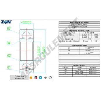 16022-ZEN - 110x170x19 mm