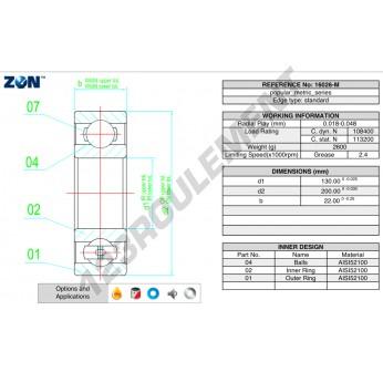 16026-M-ZEN - 130x200x22 mm