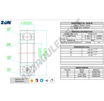 16038-M-ZEN - 190x290x31 mm