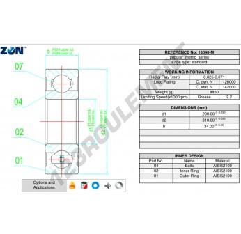 16040-M-ZEN - 200x310x34 mm