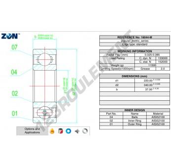 16044-M-ZEN - 220x340x37 mm