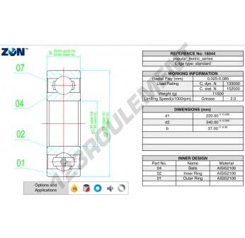16044-ZEN - 220x340x37 mm