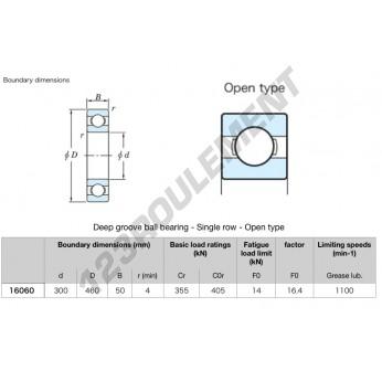 16060-KOYO - 300x460x50 mm