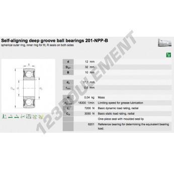 201-NPPB-INA - 12x32x10 mm