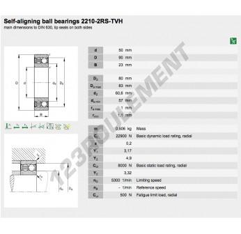 2210-2RS-TVH-FAG - 50x90x23 mm