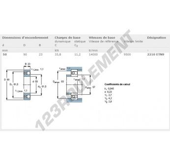2210-ETN9-SKF - 50x90x23 mm