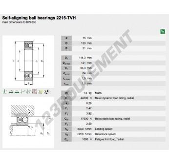 2215-TVH-FAG - 75x130x31 mm