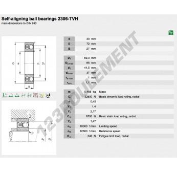 2306-TVH-FAG - 30x72x27 mm