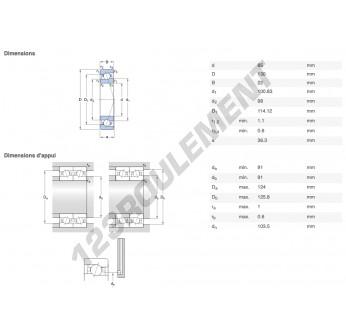 29925-SKF - 76.2x101.8x11.11 mm