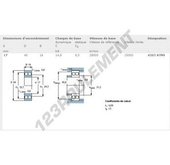 4203-ATN9-SKF - 17x40x16 mm