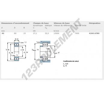 4208-ATN9-SKF - 40x80x23 mm
