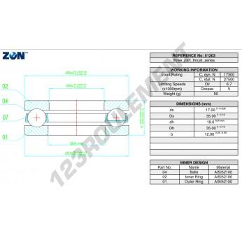 51203-ZEN - 17x35x12 mm