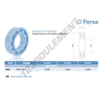 62207-2RS-ASFERSA