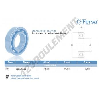 6301-2RS-C3-ASFERSA