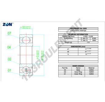 6303-CE-SI3N4-PTFE-ZEN