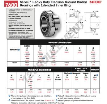 7609-DL-NICE - 14.29x25.63x15.88 mm
