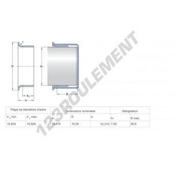 99062-SKF - 15.88x10.31 mm