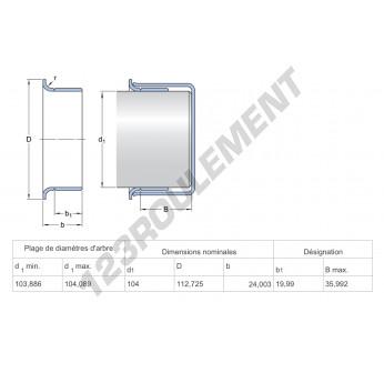 99409-SKF - 104x24 mm