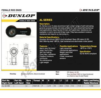 AL-SA-080-DUNLOP - 3x6x4.5 mm