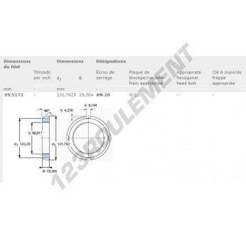 AN20-SKF - 99.51x131.76x19.3 mm