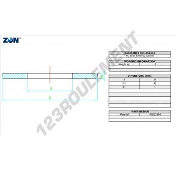 AS2542-ZEN - 25x42x1 mm