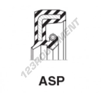 ASP-15.87X28.57X9.52-NBR - 15.87x28.57x9.52 mm