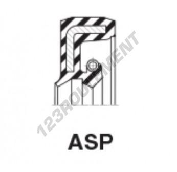 ASP-28.57X50.80X6.35-NBR - 28.57x50.8x6.35 mm