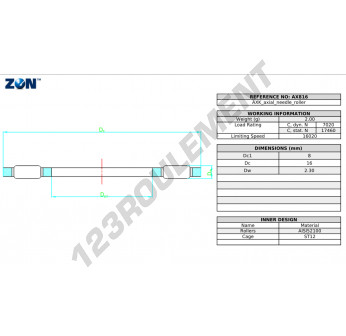 AX816-ZEN - 8x16x2.3 mm