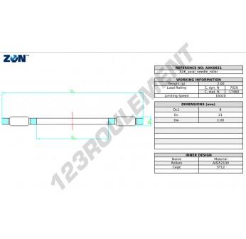 AXK0821-ZEN - 8x21x2 mm