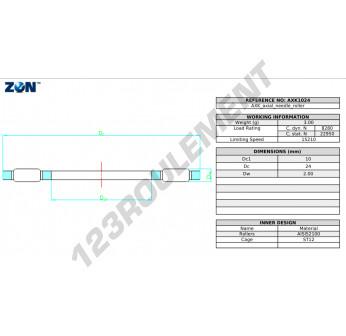 AXK1024-ZEN - 10x24x2 mm