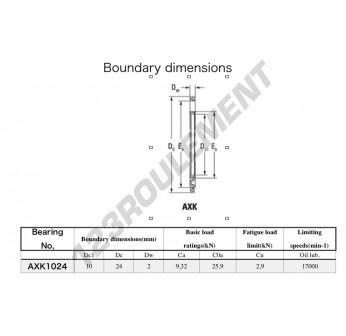 AXK1024 - 10x24x2 mm