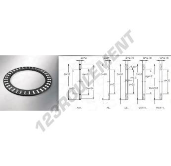 AXK2035 - 20x35x2 mm