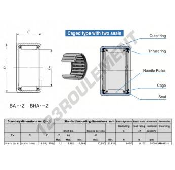 BA1012-Z-IKO - 15.88x20.64x19.05 mm