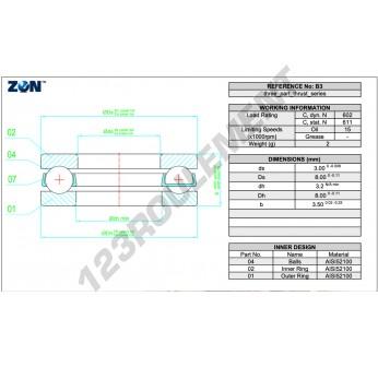 BA3-ZEN - 3x8x3.5 mm
