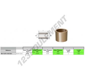 BAI15.875-19.05-25.4 - 15.88x19.05x25.4 mm