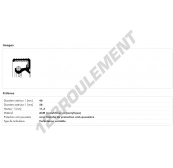 07015496B-CORTECO - 40x58x11.3 mm