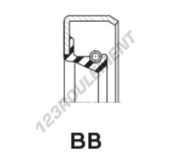 BB-125X160X18-MVQ - 125x160x18 mm