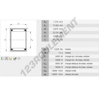 BCE1110-INA - 17.46x22.23x15.88 mm