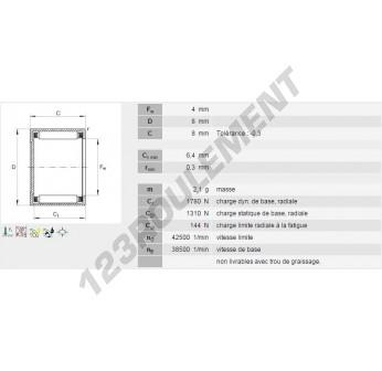 BK0408-INA - 4x8x8 mm
