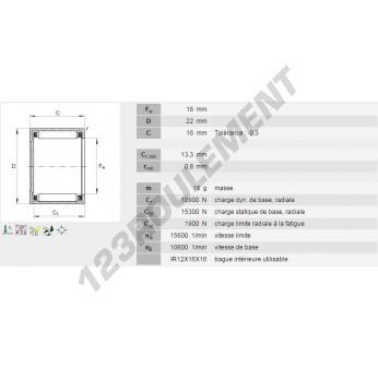 BK1616-INA - 16x22x16 mm