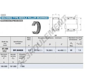 BR364828-IKO - 57.15x76.2x44.45 mm