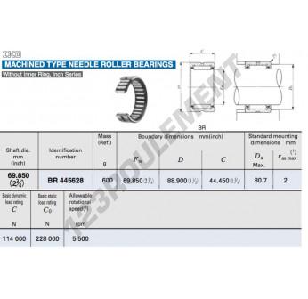 BR445628-IKO - 69.85x88.9x44.45 mm