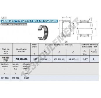 BR526828-IKO - 82.55x107.95x44.45 mm