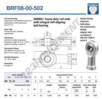 BRF08-00-502-DURBAL - 8x24x12 mm