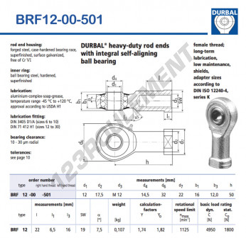 BRF12-00-501-DURBAL - 12x32x16 mm