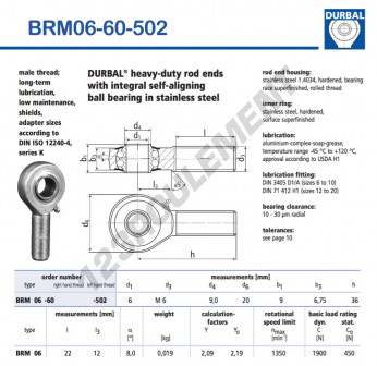 BRM06-60-502-DURBAL - x6 mm
