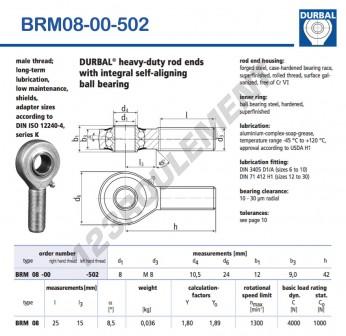 BRM08-00-502-DURBAL - x8 mm
