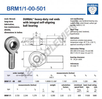 BRM1-1-00-501-DURBAL - x25.4 mm