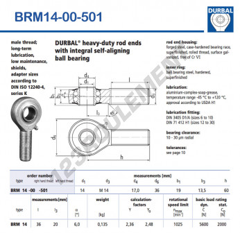 BRM14-00-501-DURBAL - x14 mm